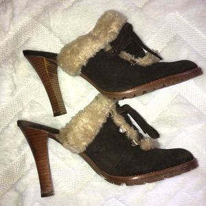 Gianni Bini faux fur heels